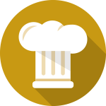 FoodServices 3D Icon Gold