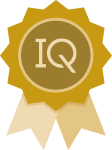 IQ Ribbon Icon Gold