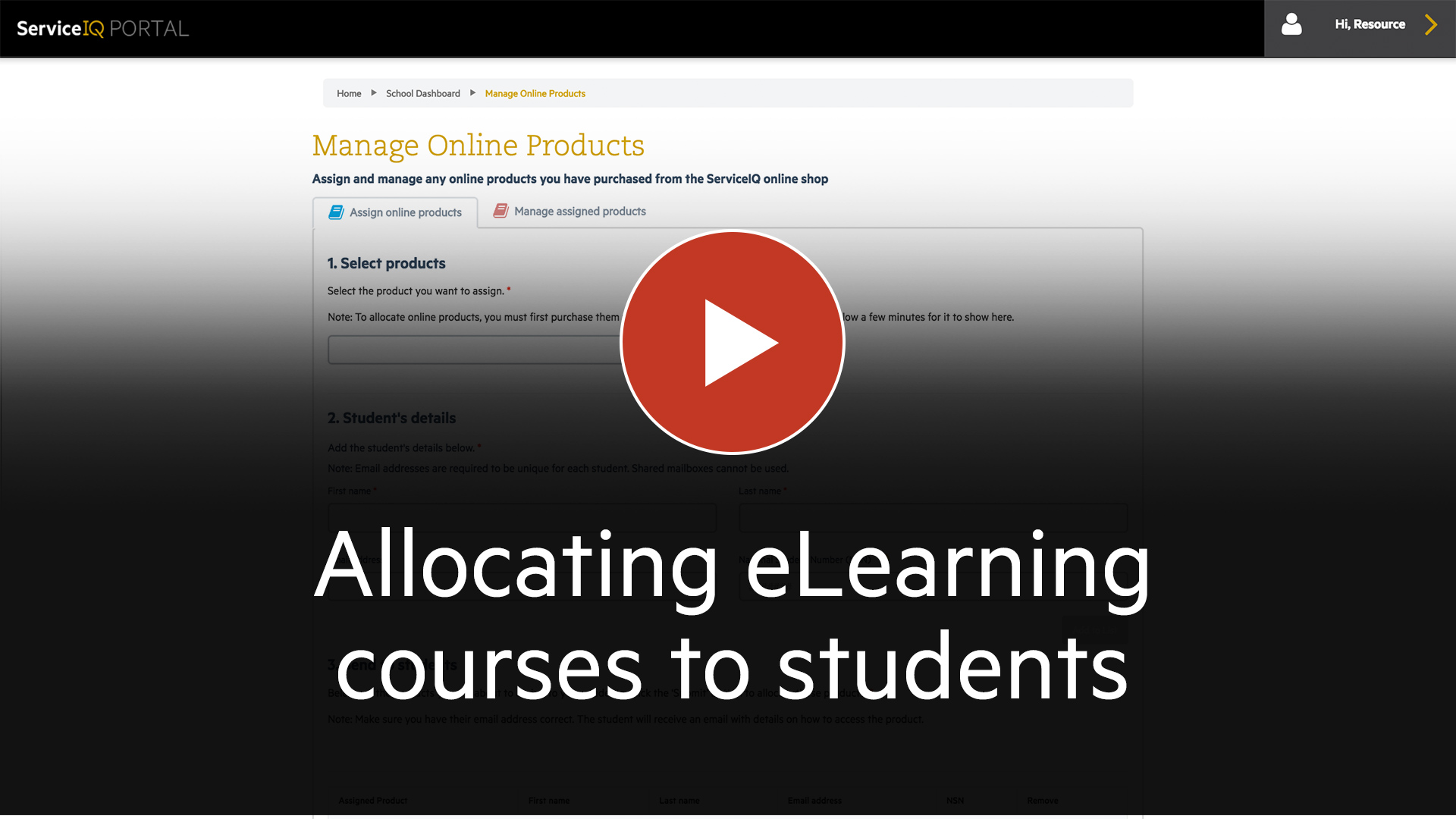 Allocating-eLearning-courses-to-students